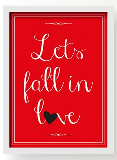 Lets Fall In Love Poster-All About Wall